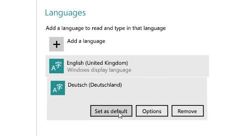 ინფორმაციის შეყვანის ენის კომპიუტერში დამატების წესი