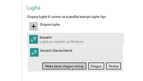jinsi ya kuongeza lugha ingizo kwenye kompyuta yako
