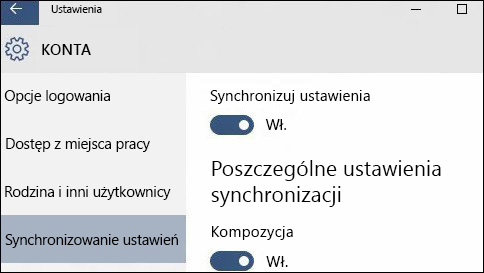 jak synchronizować ustawienia w systemie windows 10?