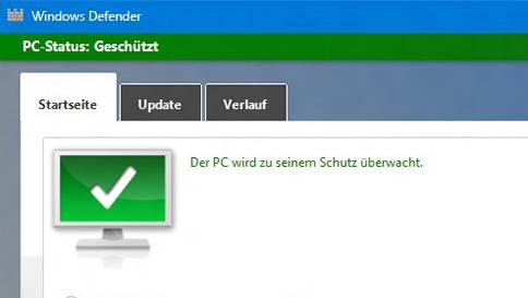 schütze deinen windows 10 pc mit windows defender