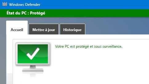 protéger votre pc windows 10 à l'aide de windows defender