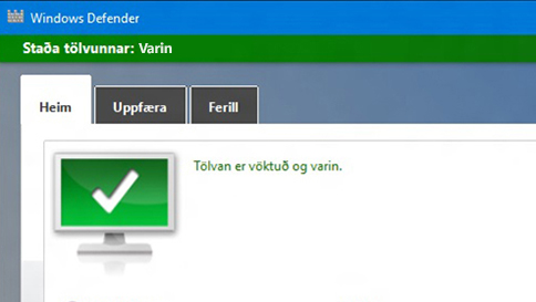 verndaðu windows 10 tölvuna þína með windows defender