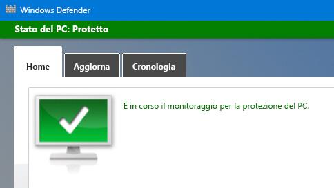 proteggere un pc windows 10 con windows defender
