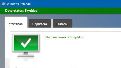 skydda din windows 10-dator med windows defender