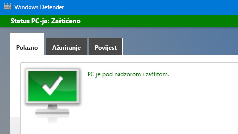 zaštitite pc sa sustavom windows 10 pomoću programa windows defender