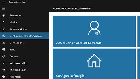 ottenere informazioni in windows 10