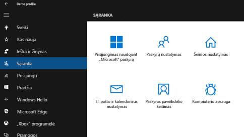 """kaip gauti pagalbos sistemoje """"windows 10"""""""