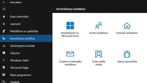 palīdzības saņemšana operētājsistēmā windows10