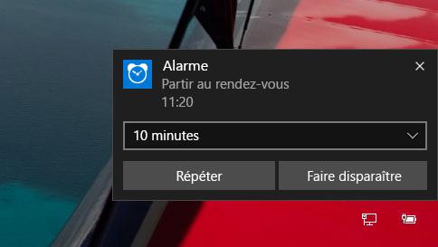comment utiliser les alarmes dans windows10
