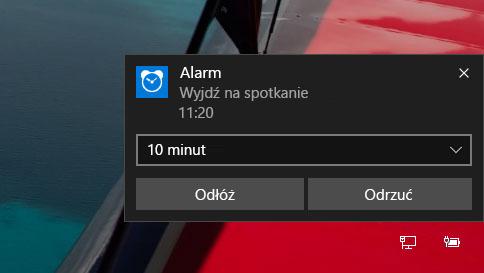 jak używać alarmów w systemie windows 10
