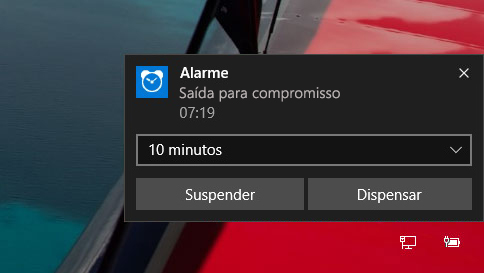 como usar alarmes no windows 10