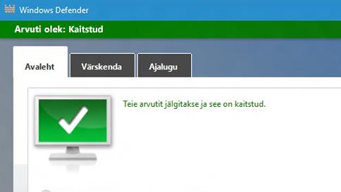 windows 10 arvuti kaitsmine windows defenderi abil