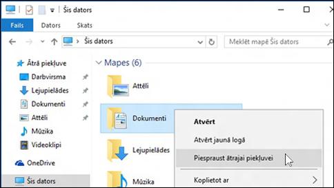 palīdzības saņemšana saistībā ar failu pārlūku operētājsistēmā windows 10