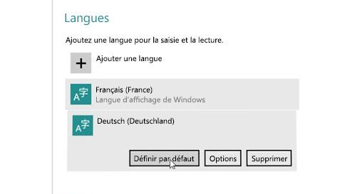 ajouter une langue d'entrée sous windows10