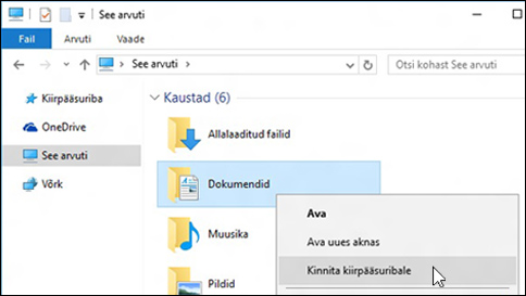 file exploreri tugiteave opsüsteemis windows 10