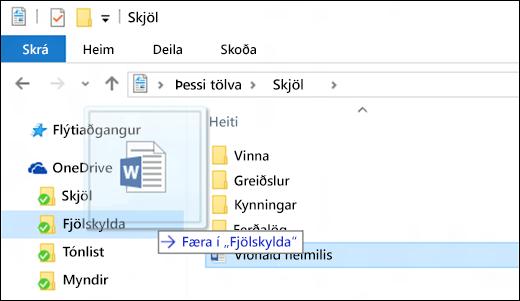 fá hjálp með skráavafra í windows 10