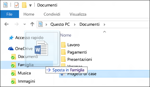 assistenza per esplora file in windows 10