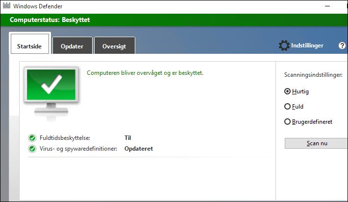 beskyt din windows 10-pc med windows defender