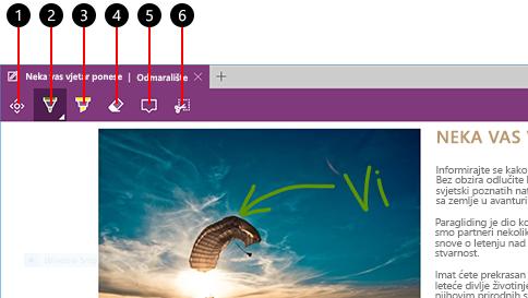 stvorite web-bilješku u pregledniku microsoft edge