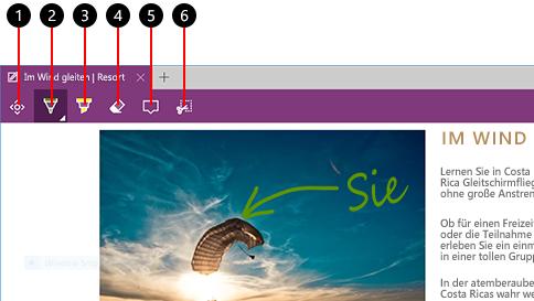 erstellen einer webseitennotiz in microsoft edge