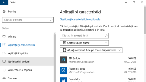 scanarea unui element cu windows defender