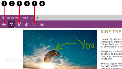 make a web note in microsoft edge
