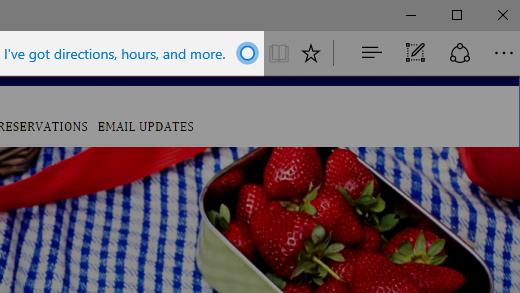 Kysy Cortanalta Microsoft Edgessä