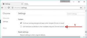 chrome system settings restat