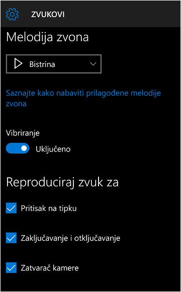 kako promijeniti melodiju zvona u sustavu windows 10 mobile