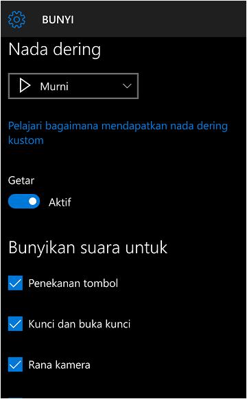 bagaimana cara mengubah nada dering di windows 10 mobile