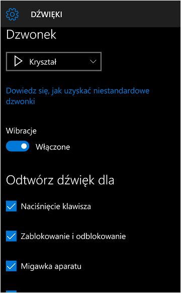 jak zmienić dzwonek w systemie windows 10 mobile