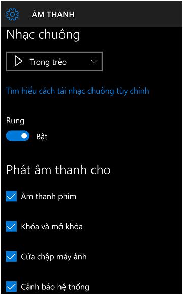 cách thay đổi nhạc chuông trong windows 10 mobile