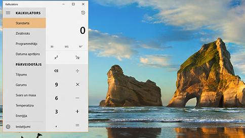 jaunumi programmā kalkulators operētājsistēmā windows10