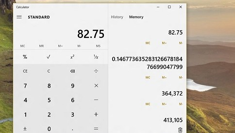 what's new in calculator in windows 10
