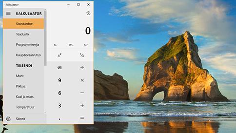 mis on uut windows 10 kalkulaatorirakenduses?