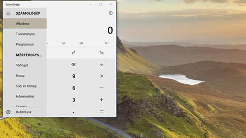 a windows 10 számológépének újdonságai