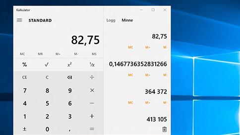 hva er nytt i kalkulator i windows 10