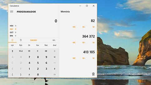 quais são as novidades da calculadora no windows 10