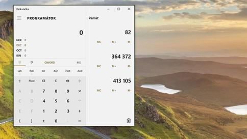 čo je nové v kalkulačke vo windowse 10