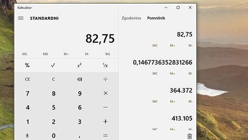 novosti v aplikaciji kalkulator v sistemu windows 10