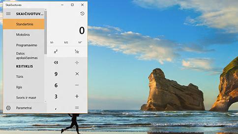 """kas nauja """"windows 10"""" skaičiuotuve"""