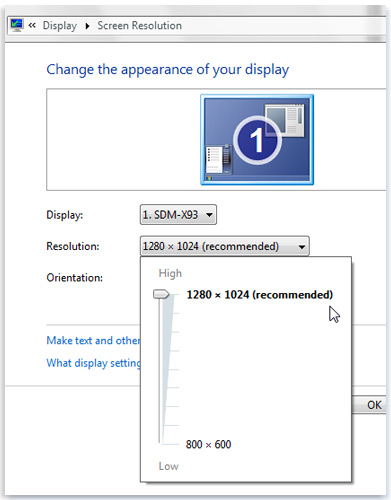 how to change screen resolution in windows 10