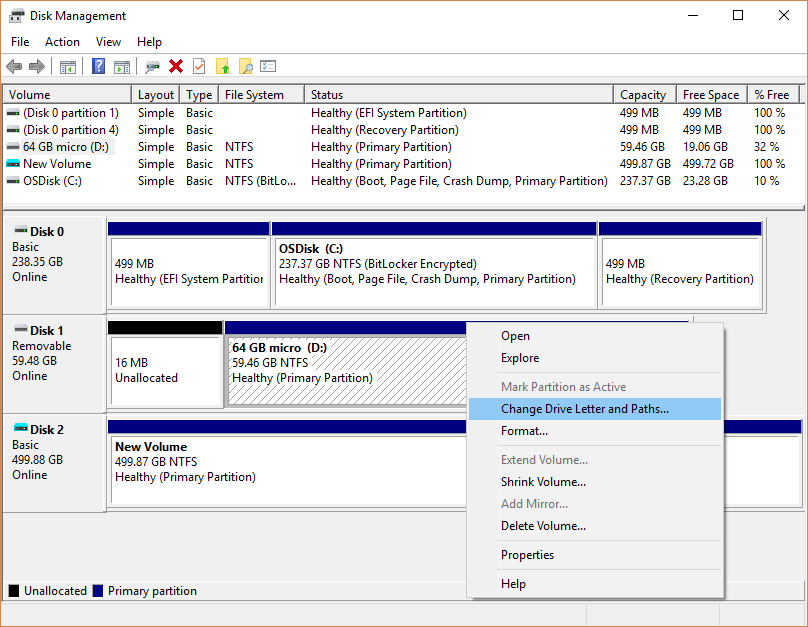 windows 10 diskhåndtering