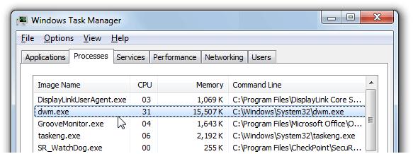 dwm.exe 桌面窗口管理器