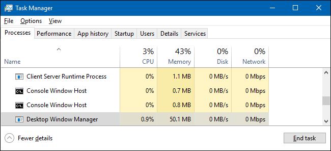 dwm.exe Darbalaukio tvarkytuvas (32 bitų)