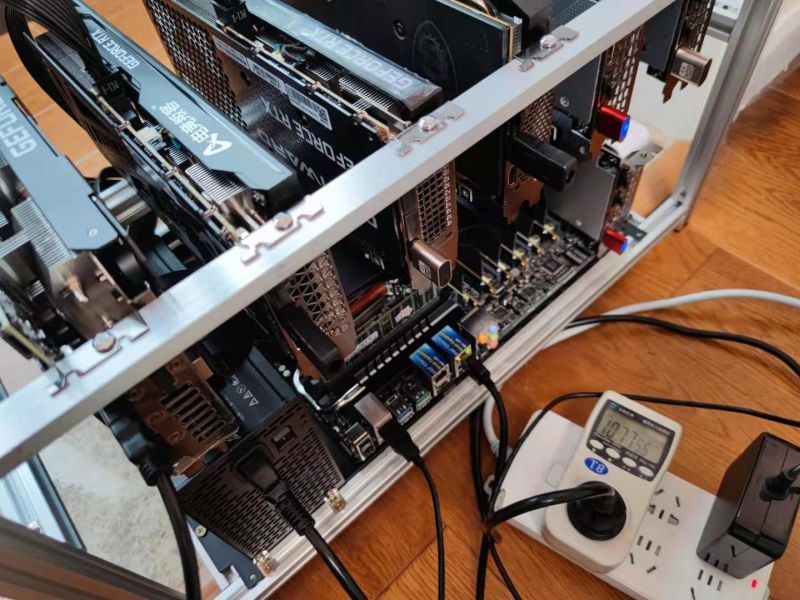 7x RTX 3060 Энергопотребление